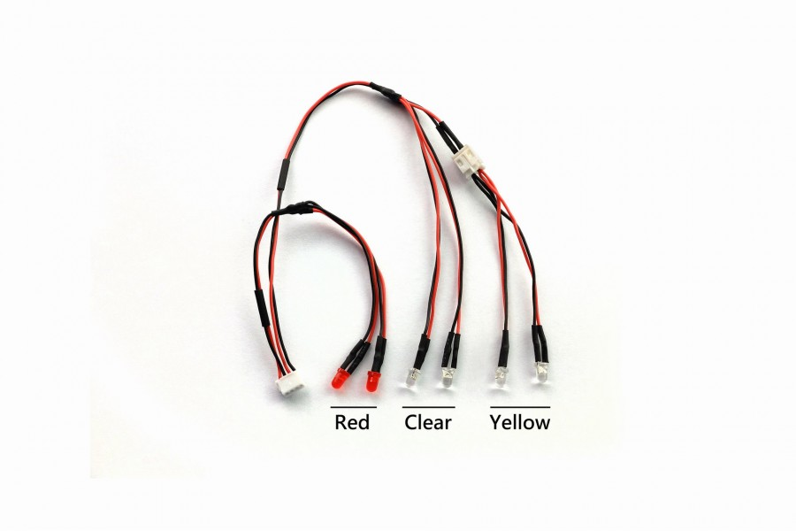LED Light Set (Clear,Yellow,Red, easy for Jeep)