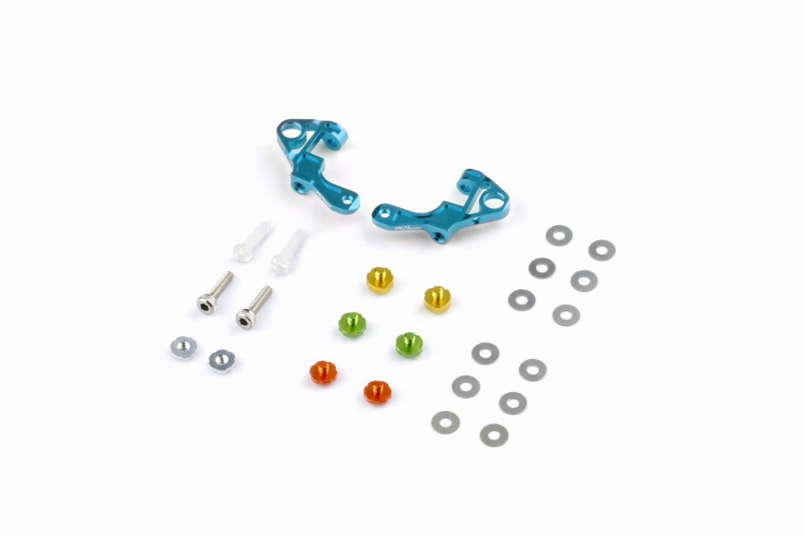 Alu-alloy Front Upper Arm Set Ver.2 (Cyan)