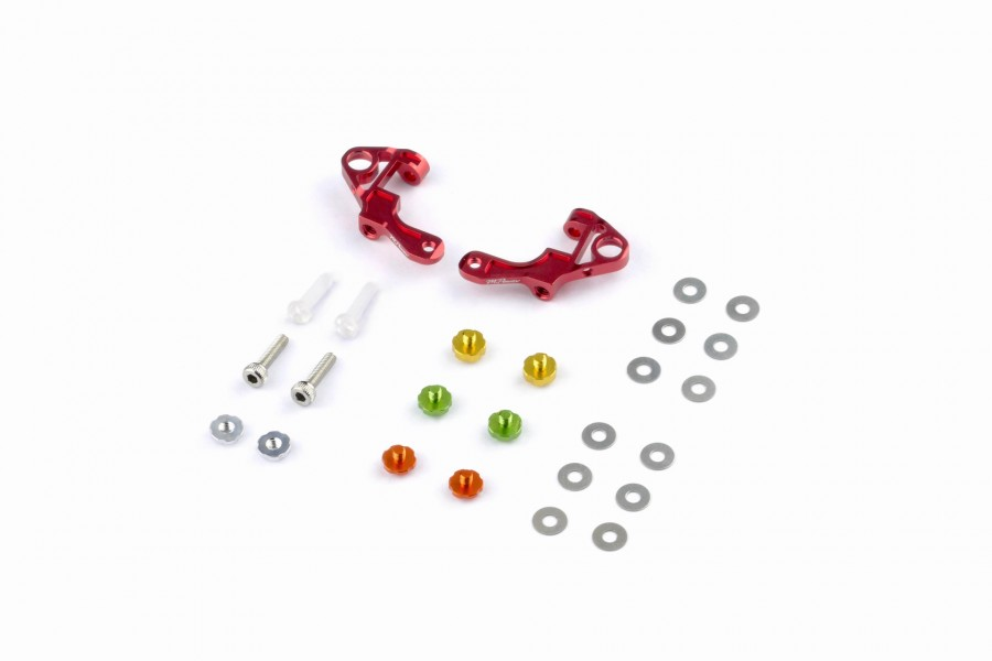Alu-alloy Front Upper Arm Set Ver.2 (Red)