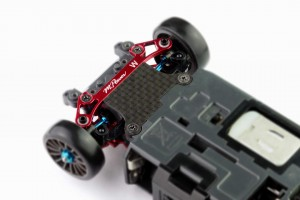 Alu-alloy Front Lower Arm Set Ver.2 (Wide/Red)