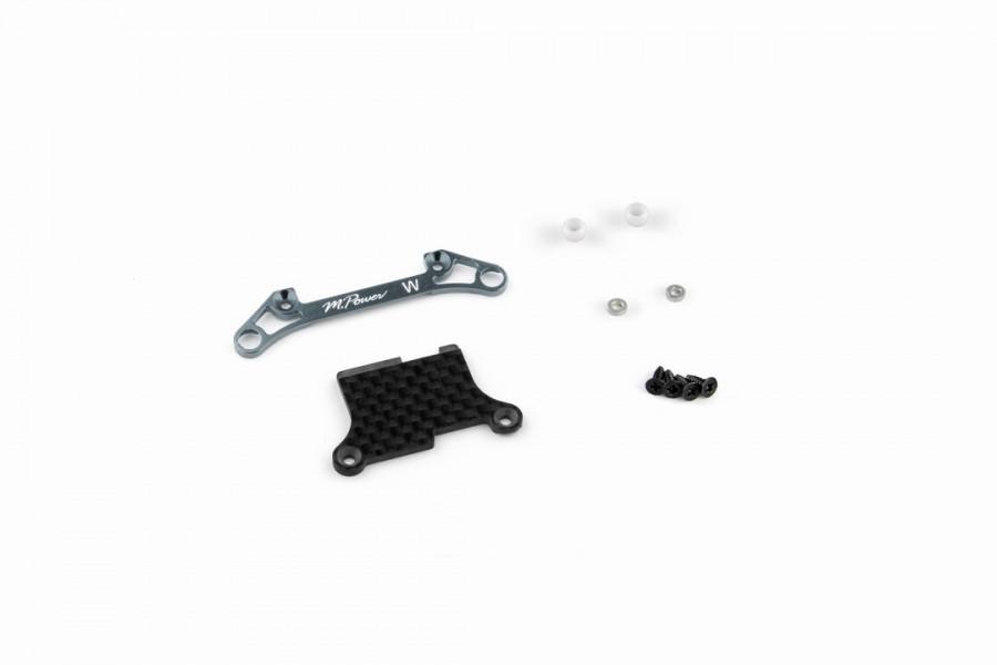 Alu-alloy Front Lower Arm Set Ver.2 (Wide/Gunmetal)