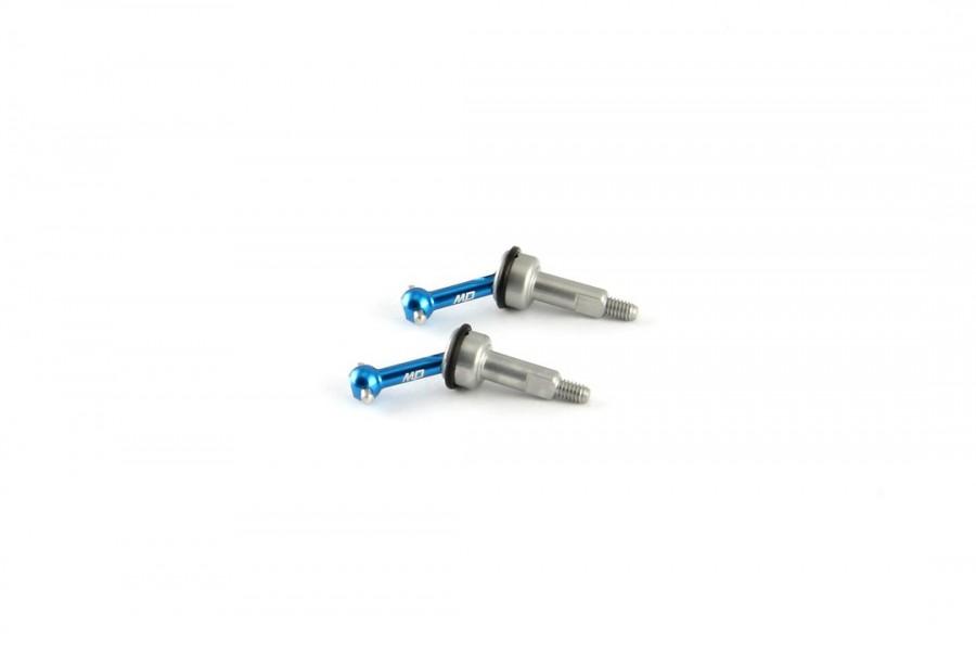 AL7075 Universal Shaft / CVD (Wide/Cyan, 1 pair)