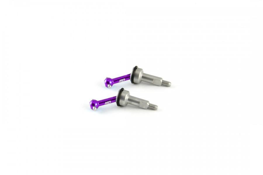 AL7075 Universal Shaft / CVD (Wide/Magenta, 1 pair)