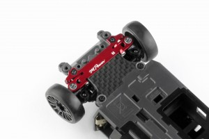 Alu-alloy Front Lower Wishbone MA-020 Set (Narrow/Red)