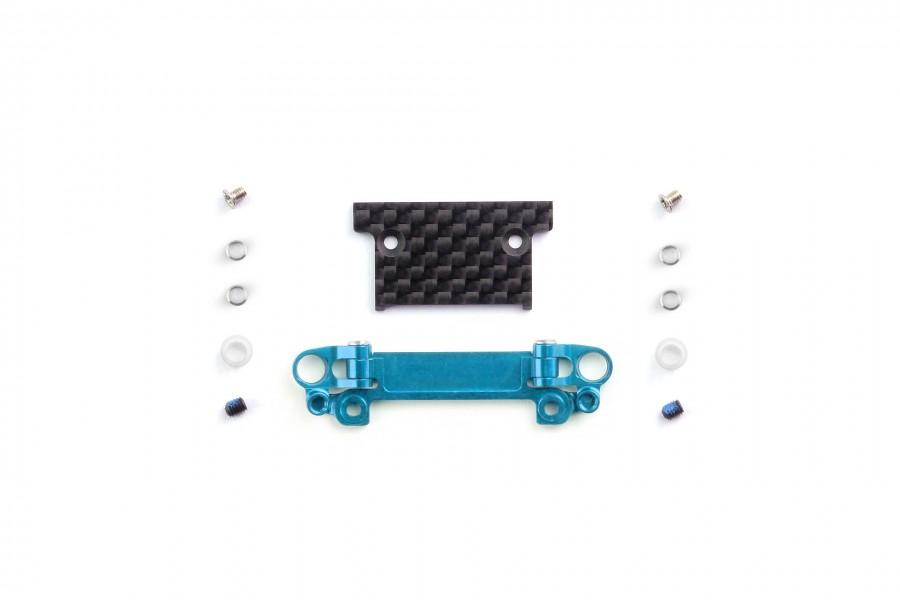 Alu-alloy Front Lower Wishbone MA-030/F Set (Narrow/Cyan)