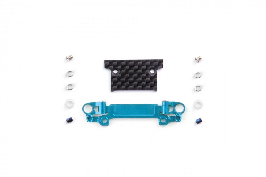 Alu-alloy Front Lower Wishbone MA-030/F Set (Wide/Cyan)