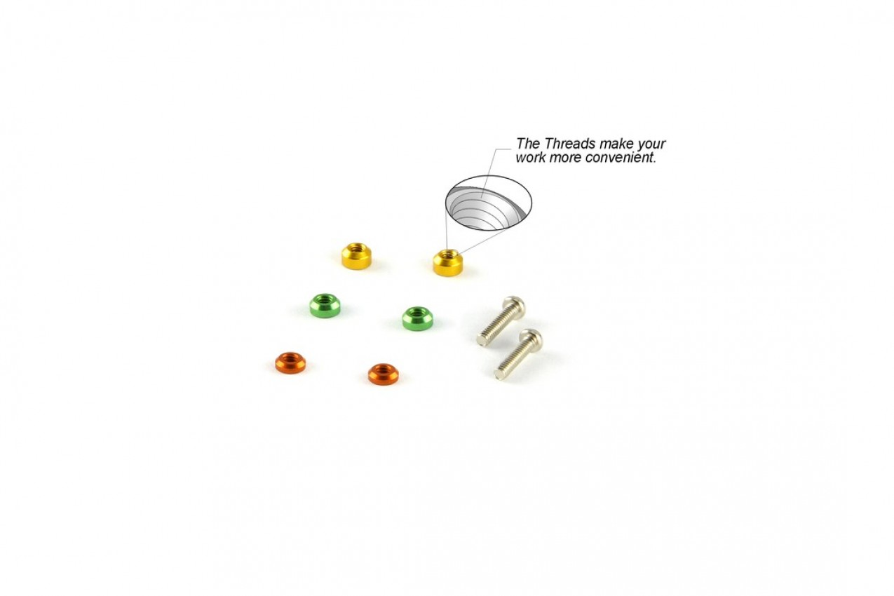 Alu-alloy Threaded Spacer Set (for DWS Upper Rod)