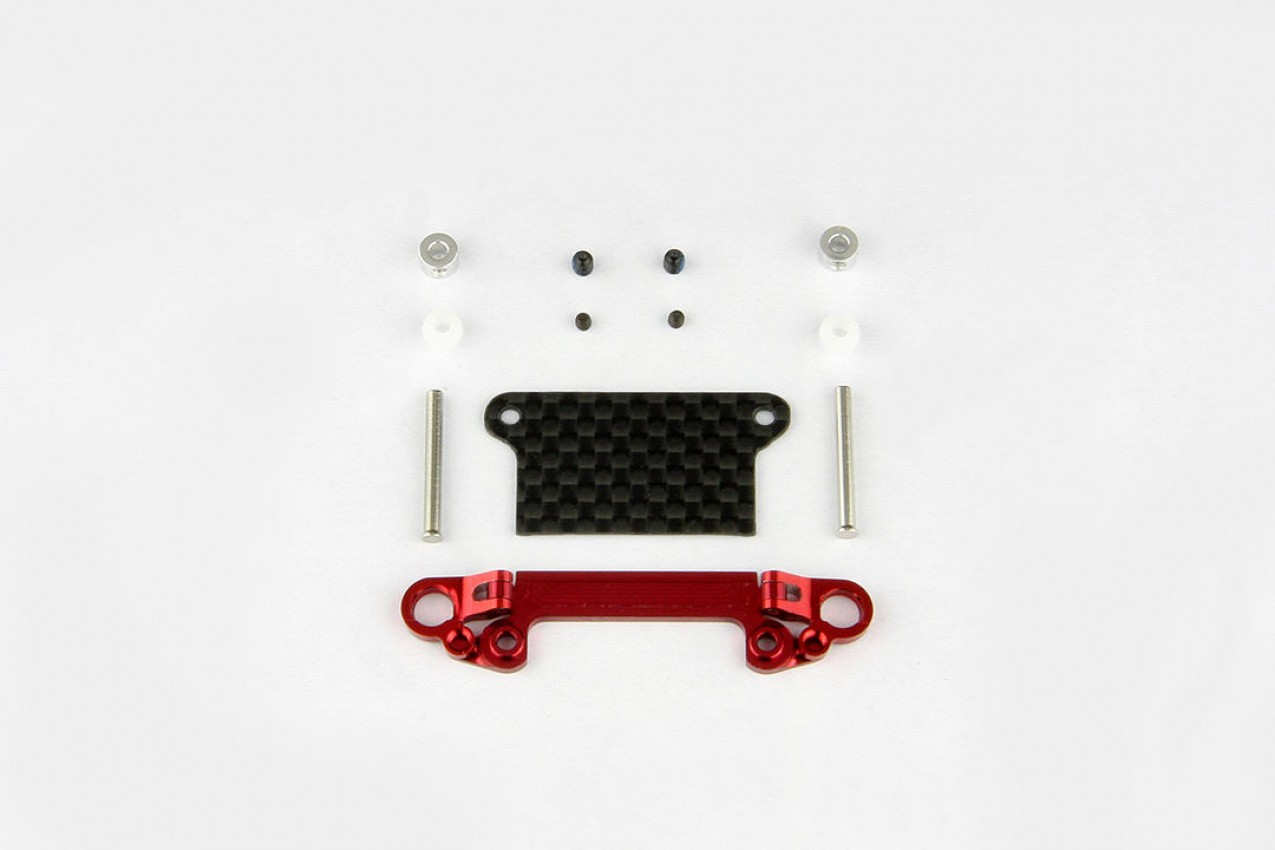 Alu-alloy Front Lower Wishbone Set (Wide/Red)