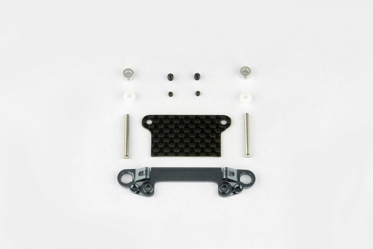 Alu-alloy Front Lower Wishbone Set (MR-03, Wide, Gunmetal)