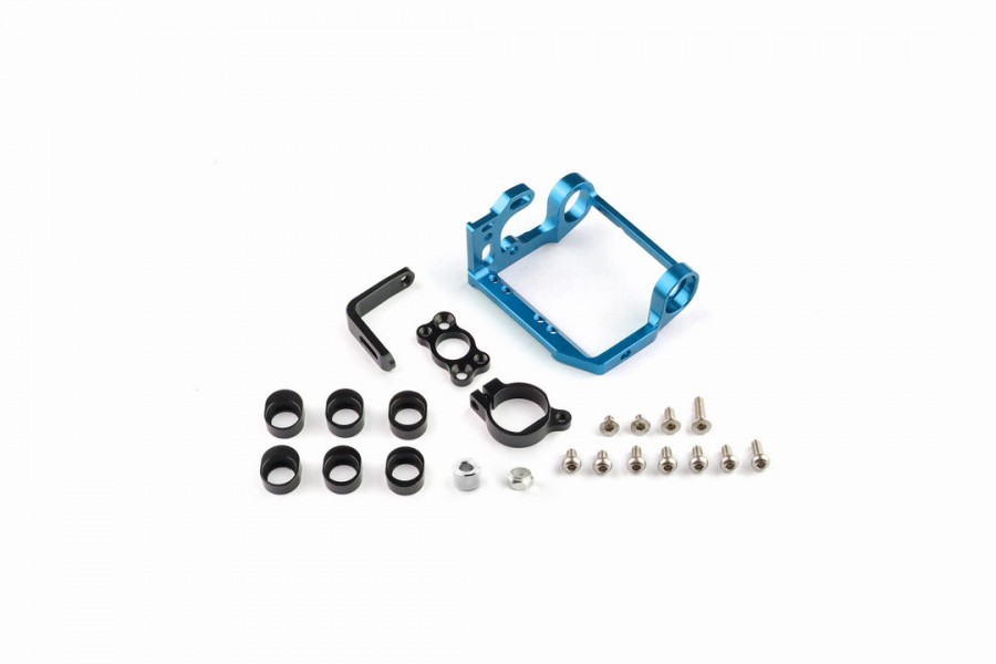 Alu-alloy Motor Mount Set/MM (Cyan)