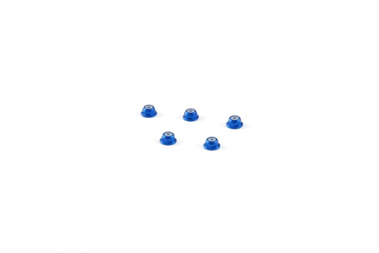 Alu-alloy M2 Flange Locknut (for 4.5mm driver, Blue)