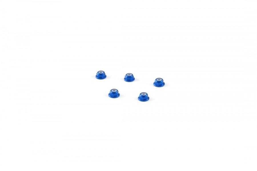 Alu-alloy M2 Flange Locknut (for 4.5mm driver/Blue)