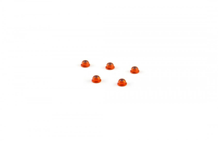 Alu-alloy M2 Flange Locknut (for 4.5mm driver, Orange)