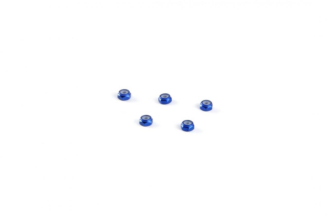 Alu-alloy M2 Locknut (Thin size, for 4.5mm driver, Blue)