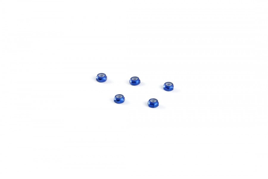Alu-alloy M2 Locknut (Thin size/for 4.5mm driver/Blue)