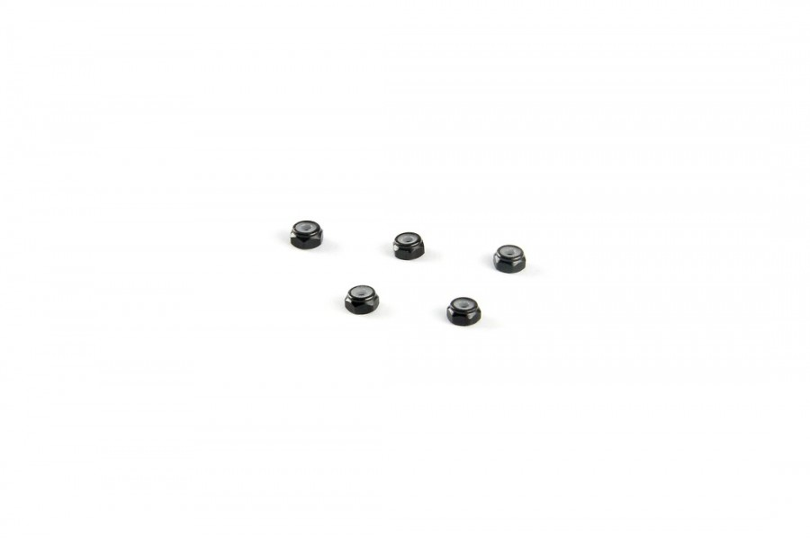 Alu-alloy M2 Locknut (Thin size/for 4.5mm driver/Black)