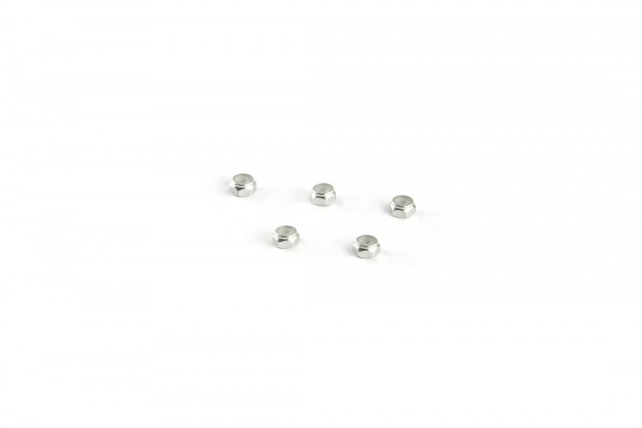 Alu-alloy M2 Locknut (Thin size/for 4.5mm driver/Silver)