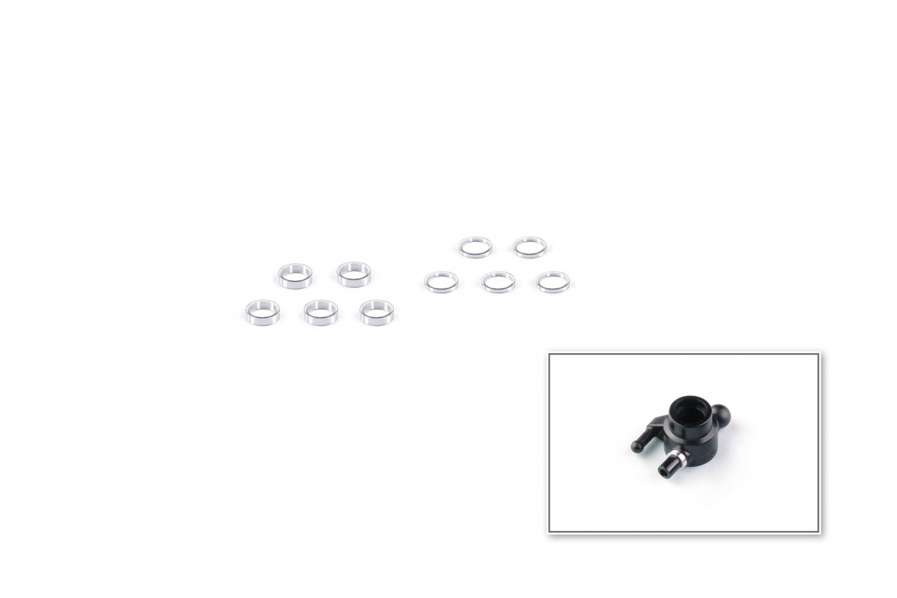 Alu-alloy Shim Set 3x4mm (0.5/1.0)