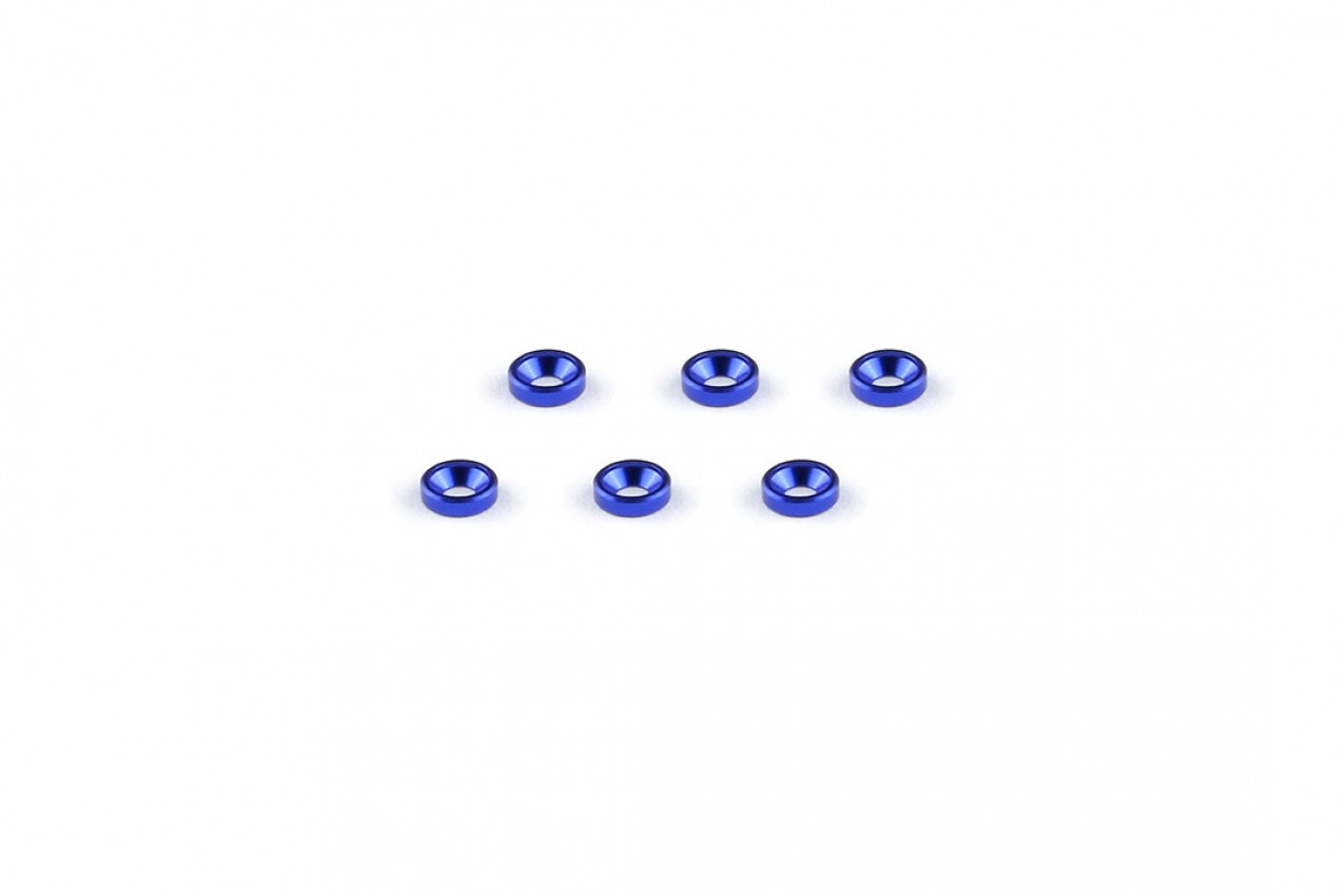 Alu-alloy Countersunk Washer (M2×1.3mm/Blue)
