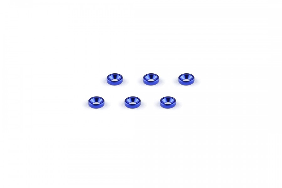 Alu-alloy Countersunk Washer (M2×1.3mm/Blue)