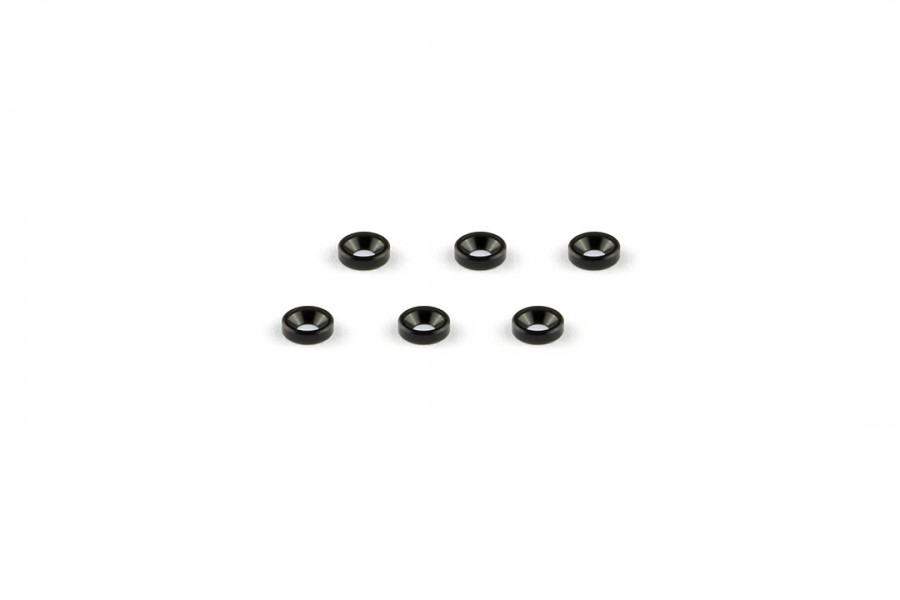 Alu-alloy Countersunk Washer (M2×1.3mm/Black)
