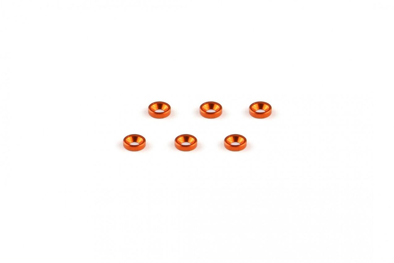 Alu-alloy Countersunk Washer (M2×1.3mm/Orange)
