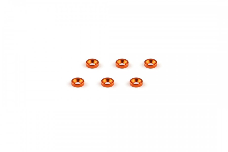 Alu-alloy Countersunk Washer (M2×1.3mm, Orange)