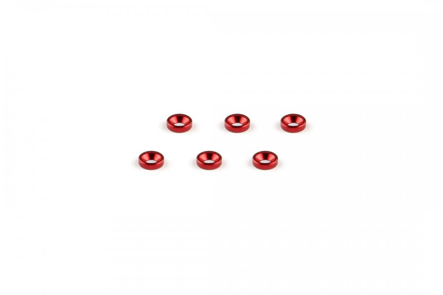 Alu-alloy Countersunk Washer (M2×1.3mm/Red)