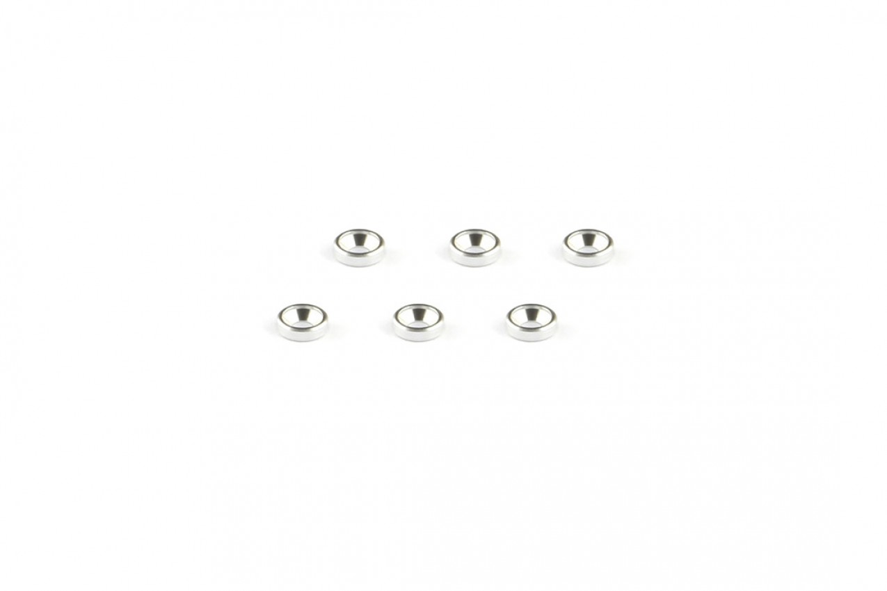 Alu-alloy Countersunk Washer (M2×1.3mm, Silver)